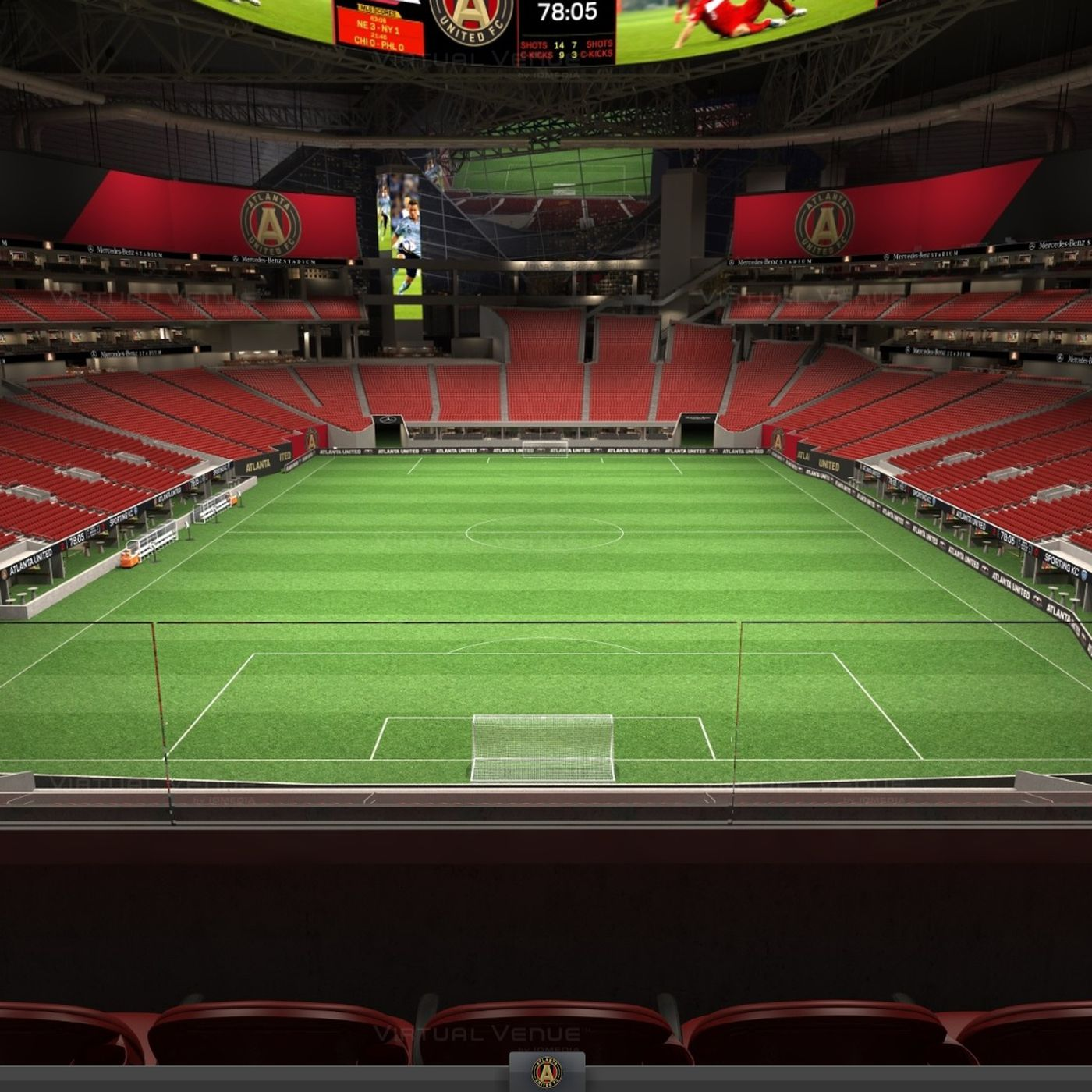 Mercedes benz stadium seat view cabinets matttroy for Mercedes benz stadium atlanta united