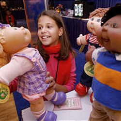 Renee Silver plays with Cabbage Patch Kids by Play Along.