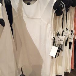 White sleeveless top,  $100 (was $550)