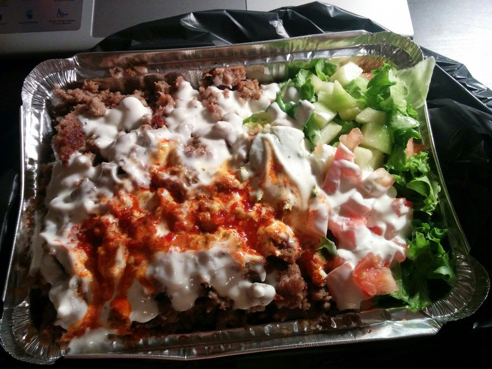 Gyro with rice from Halal Bros