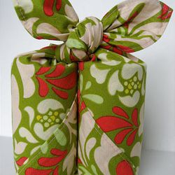 Furoshiki -- a traditional Japanese wrapping cloth -- which is a novel, and reusable, way to wrap holiday gifts this season.