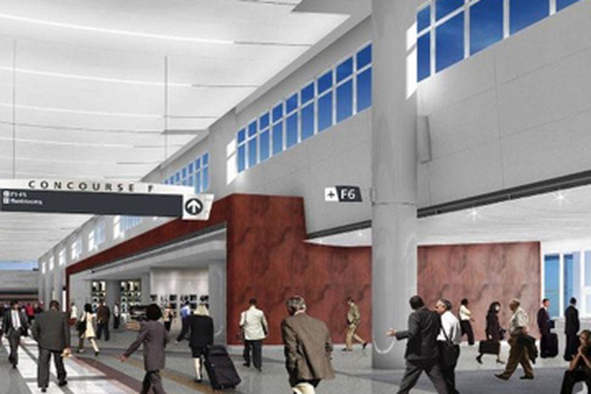 Rendering, new International Terminal to open spring 2012.
