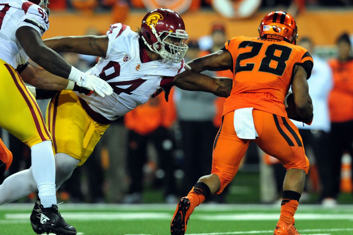 Defensive lineman Leonard Williams is expected to be a force within Justin Wilcox's defense this coming year.