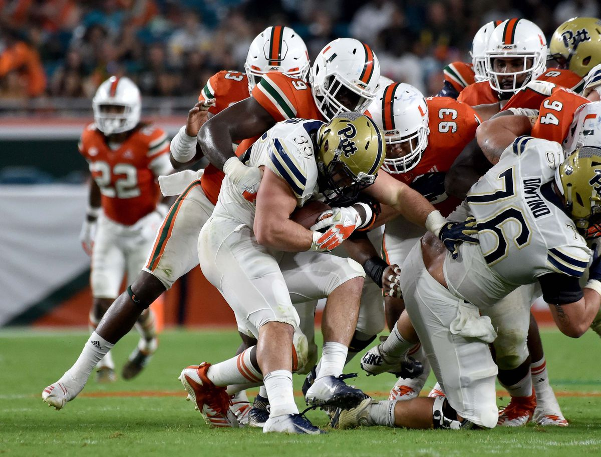 NCAA Football: Pittsburgh at Miami