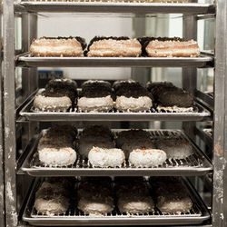 """<a href=""""http://ny.eater.com/archives/2014/06/pastry_cases_go_nuts_for_doughnuts_at_the_doughnut_plant.php"""">Pastry Cases Go Nuts for Doughnuts at Doughnut Plant</a>"""