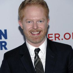 """FILE - In this March 3, 2012 file photo, actor Jesse Tyler Ferguson arrives at the Los Angeles premiere of the play """"8"""" in Los Angeles. Ferguson, a 2012 Emmy nominee, jokes that a flask of vodka and maybe a Quaalude helps to calm award show nerves."""