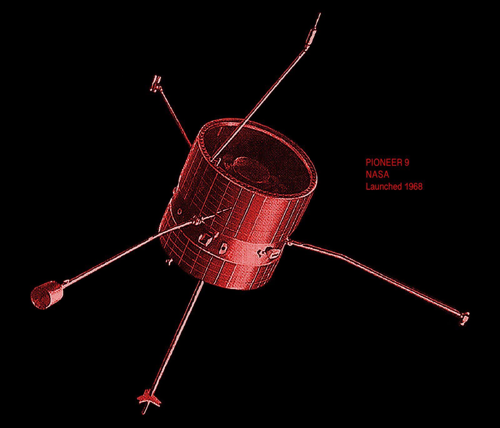 An illustration of Pioneer 9.