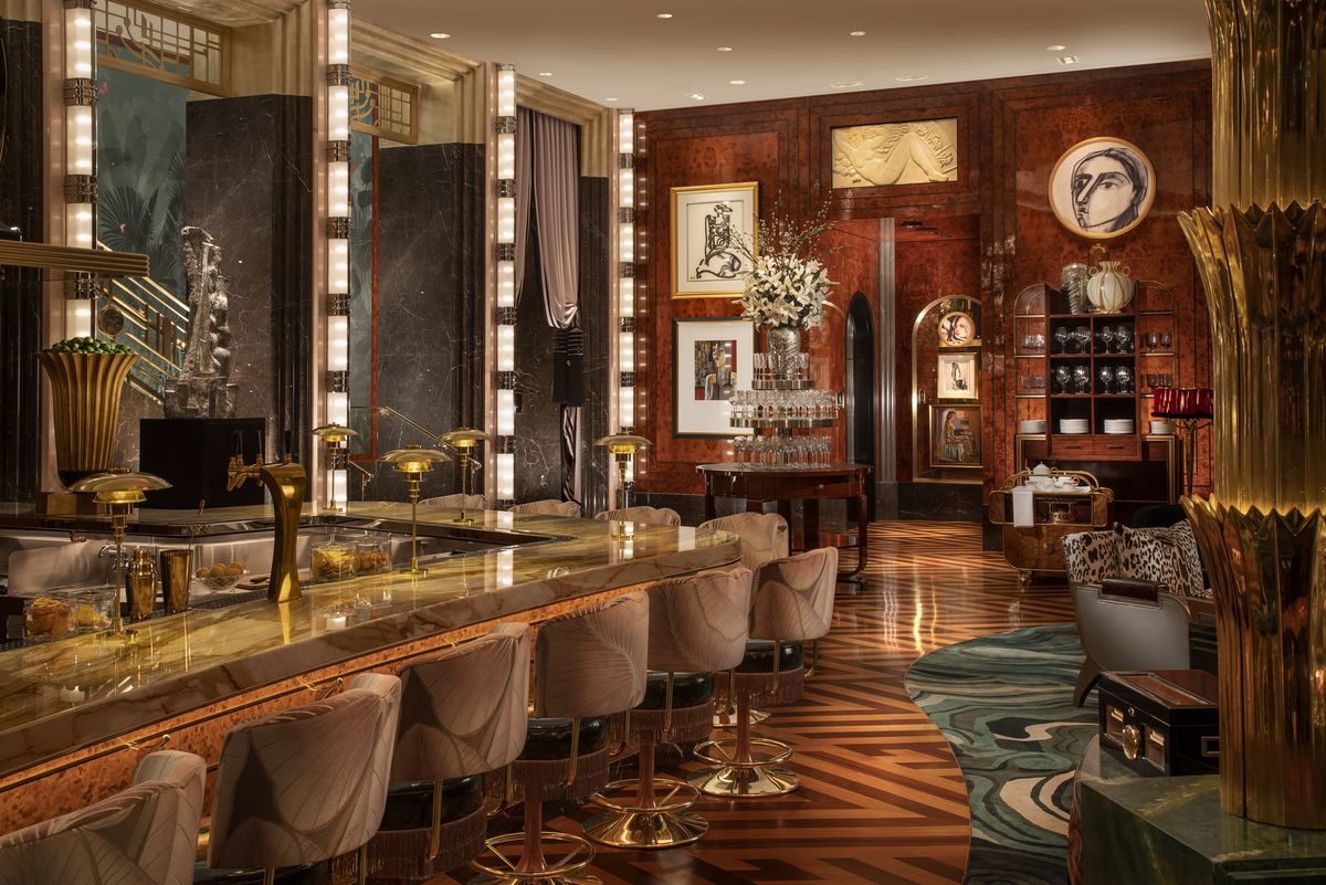 Another view of the bar in the main dining room at Delilah