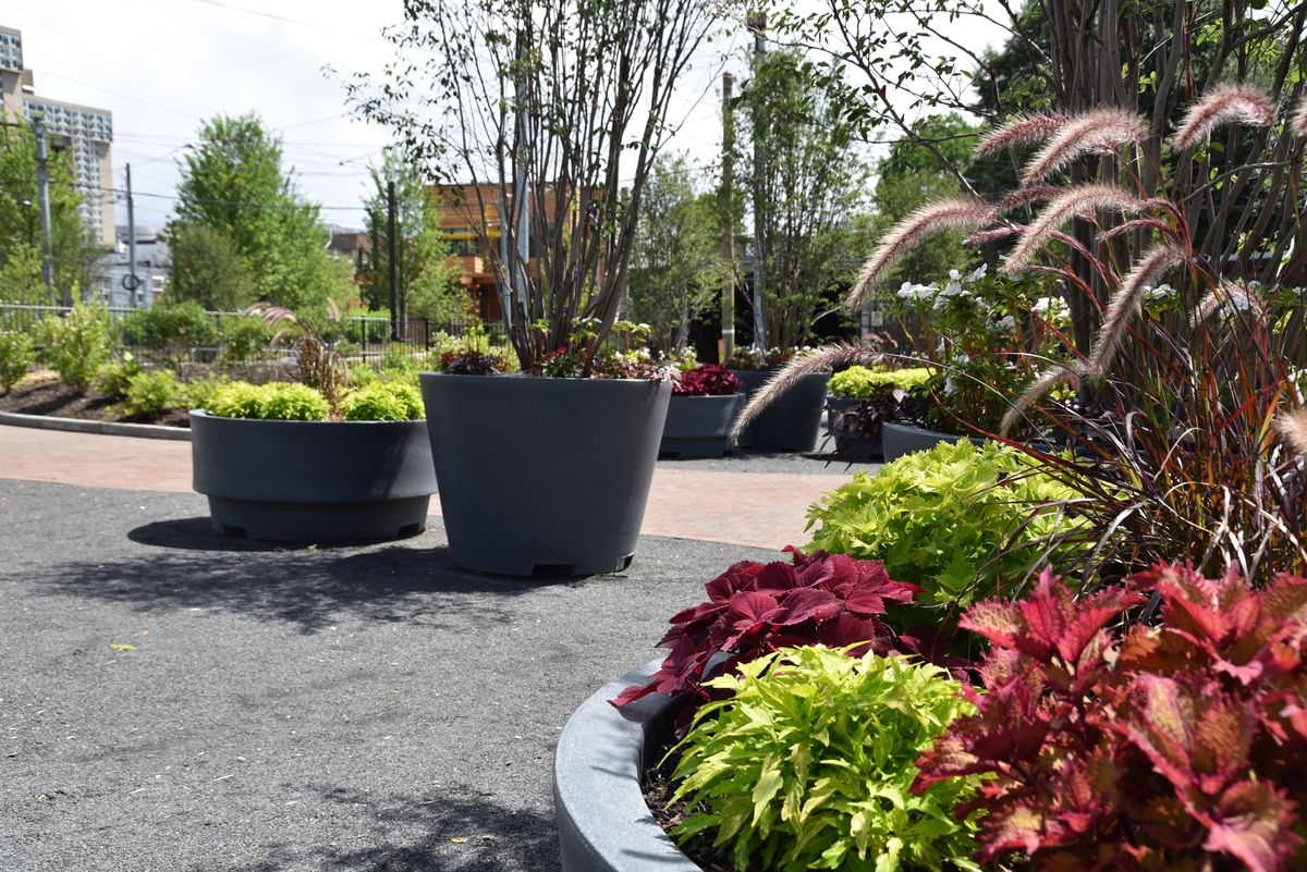 CURBED • University City Trolley Portal Gardens opening this month