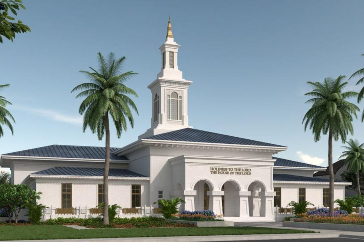A rendering of the Pago Pago American Samoa Temple.