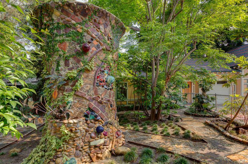 Large backyard sculpture