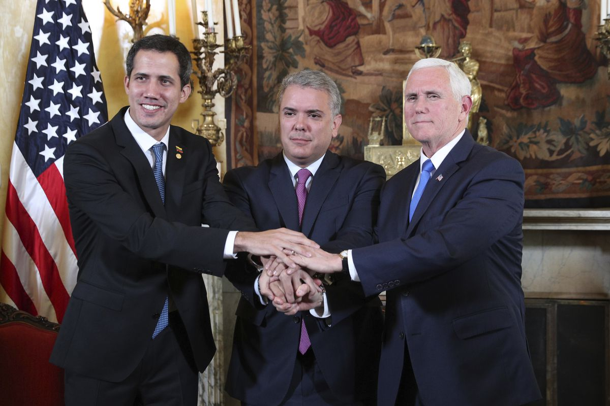 """Mike Pence promises Venezuelan opposition: """"We are with you 100 percent"""""""