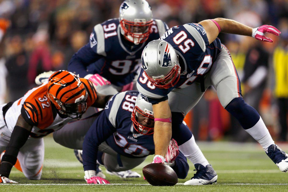 Patriots defense in action Sunday night
