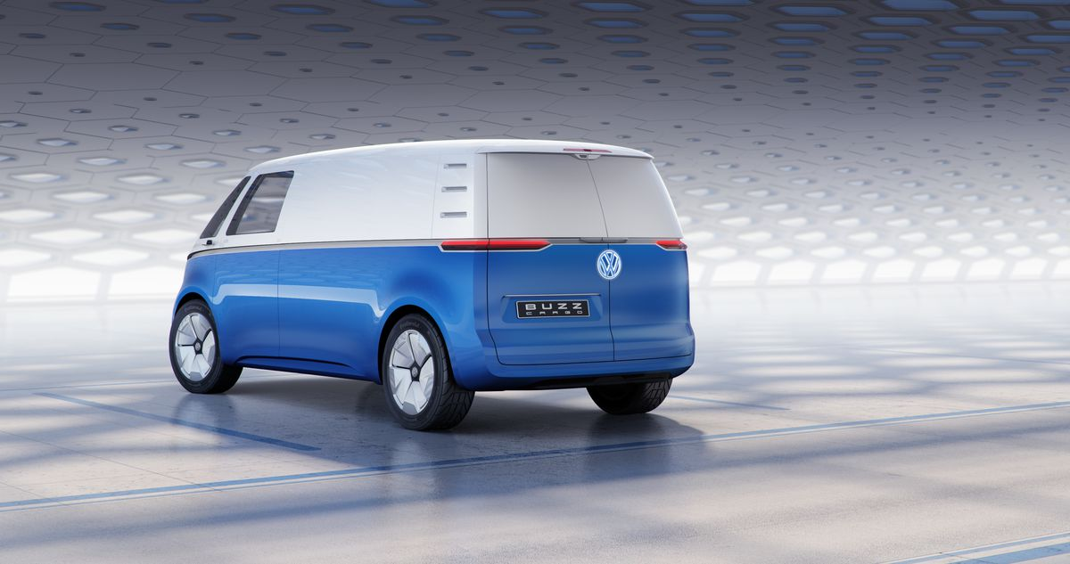 Vw S I D Buzz Cargo Is An Electric Delivery Van With A Hint Of Flower