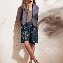 Bomber jacket, $70; Knit basic tank top, $40; Drawstring shorts, $48