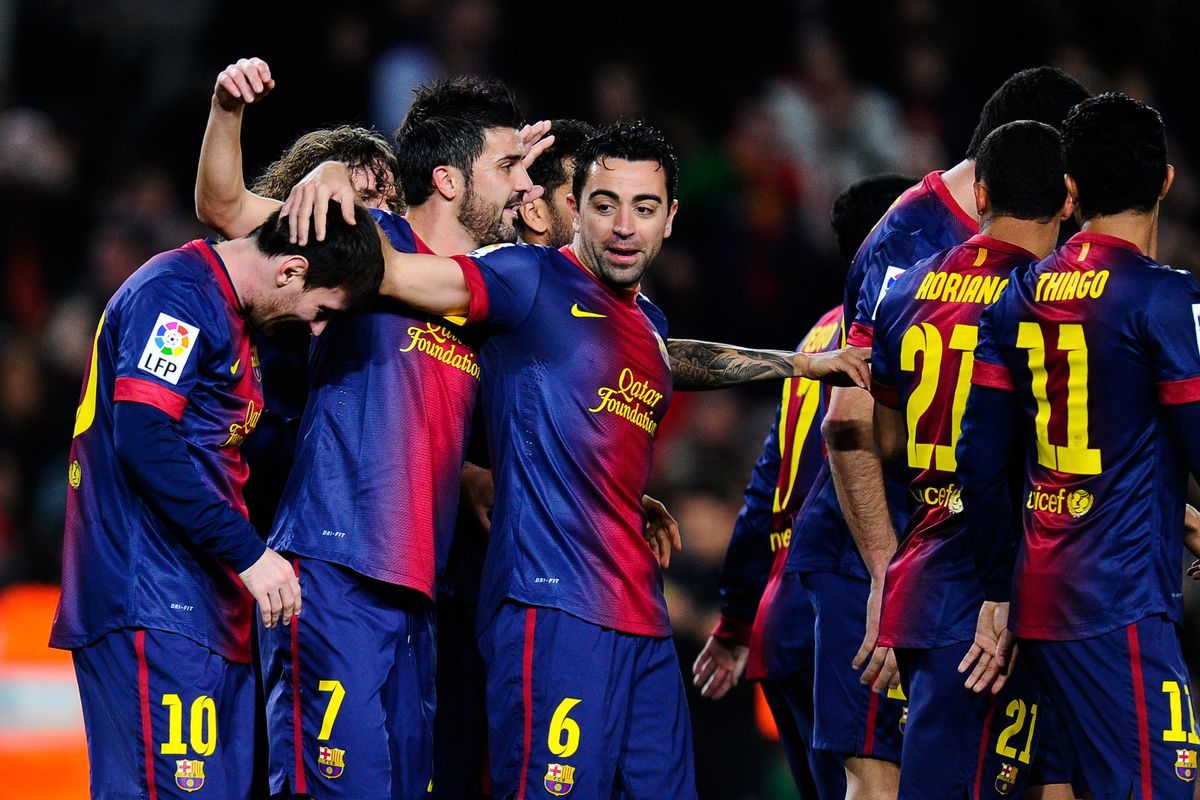 Barca ran out comfortable 5-1 winners in their last La Liga match at the Camp Nou
