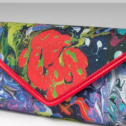 Sotto Clutch by Cathy Bruni, a one of a kind artwork piece made of printed canvas, $375 at Laudi Vidni