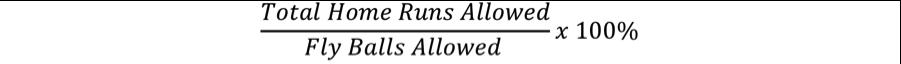 Home Runs Formula