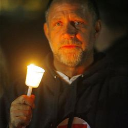 Randy Gardner participates in a vigil for his brother, Ronnie Lee Gardner. The execution warrant for Ronnie Lee Gardner was carried out at 12:17 a.m. at the Utah State Prison on Friday.