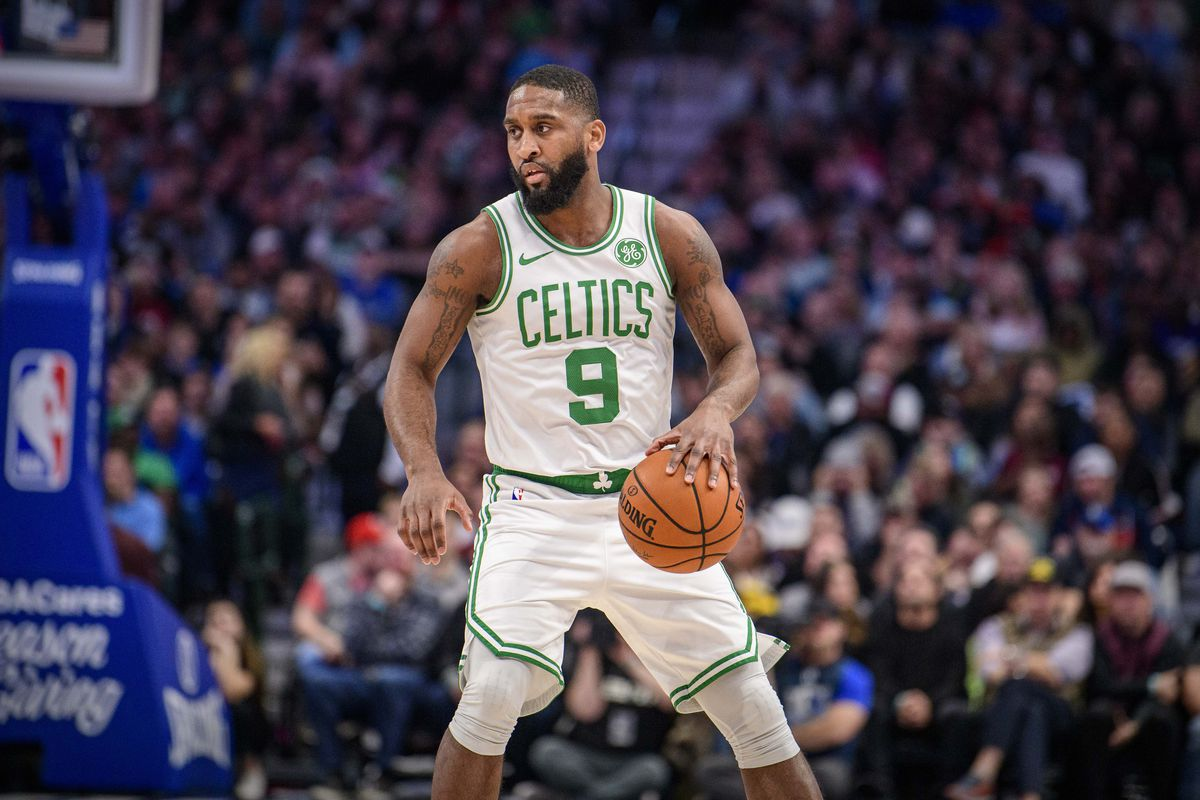 Boston Celtics guard Brad Wanamaker in action during the game between the Mavericks and the Celtics at the American Airlines Center.