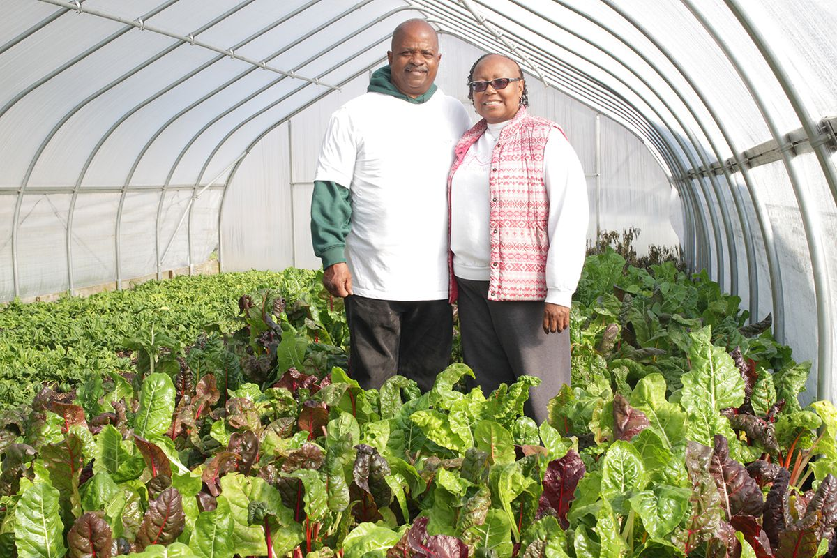 Oakland Avenue Urban Farm founders, Billy and Jerry Hebron