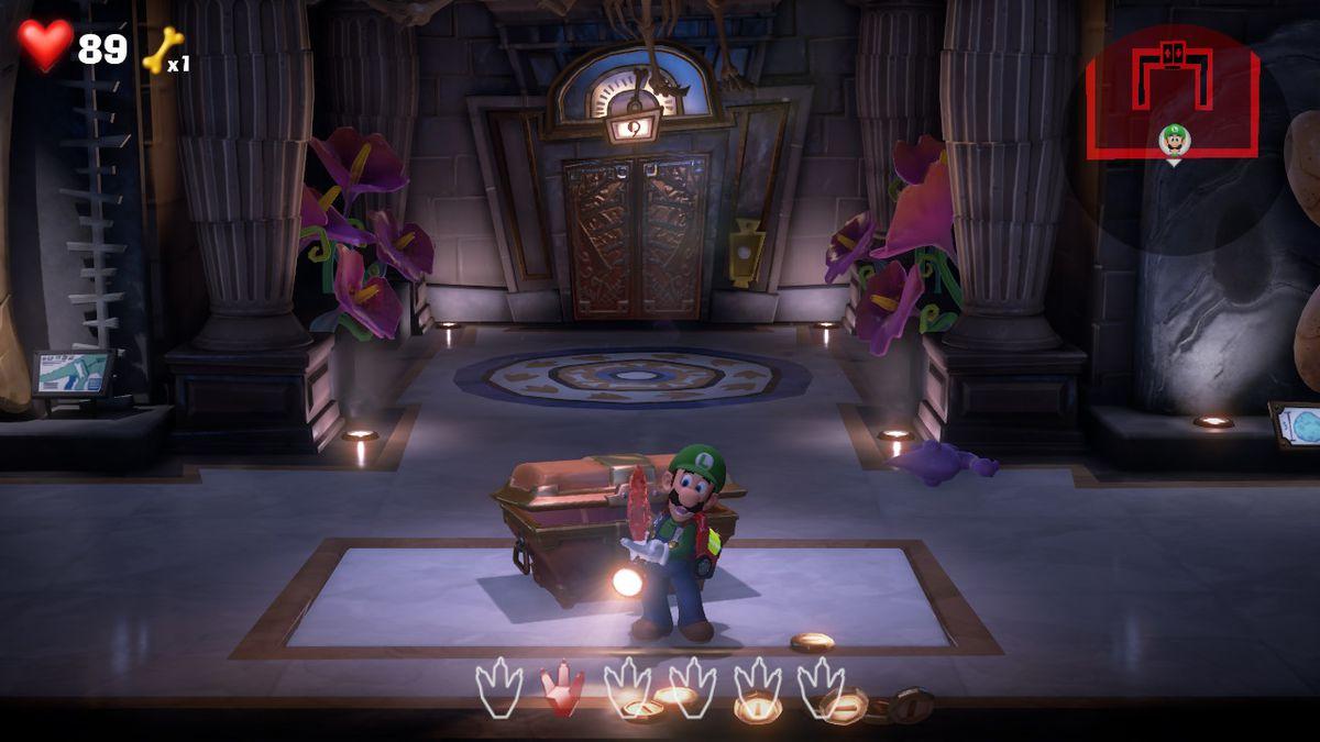 Luigi's Mansion 3 9F red gem location