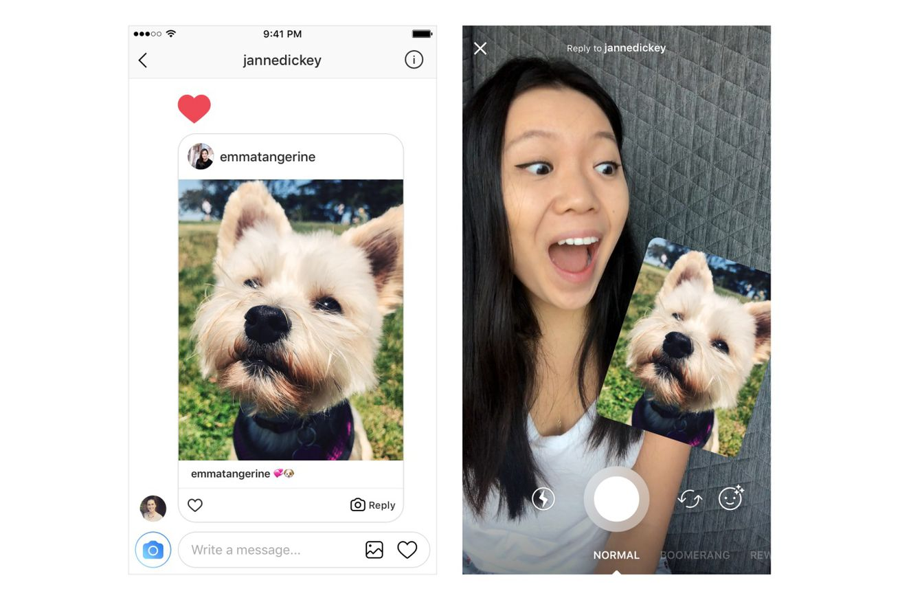 Instagram will now automatically turn photos you're replying to into a sticker
