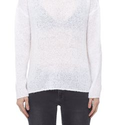 Play peek-a-boo with this sexy sheer sweater.