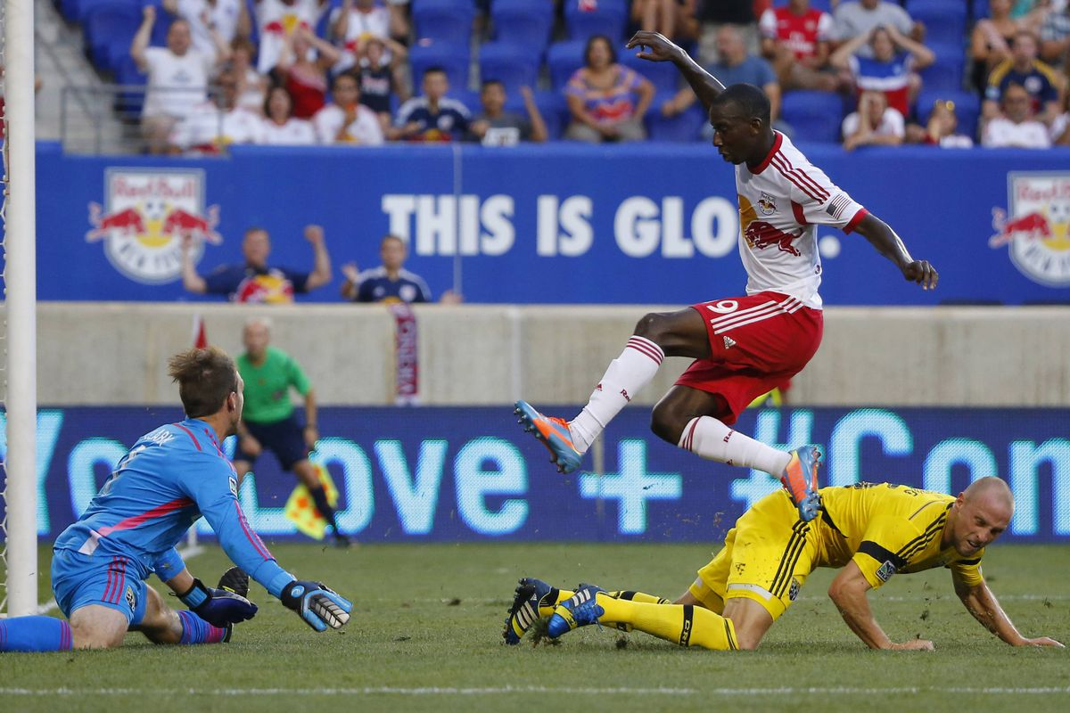 Bradley Wright-Phillips: leaping through the air, leaping up the scoring charts.