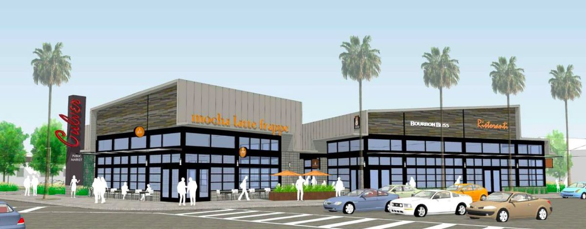 Rendering of second portion of Culver City food hall