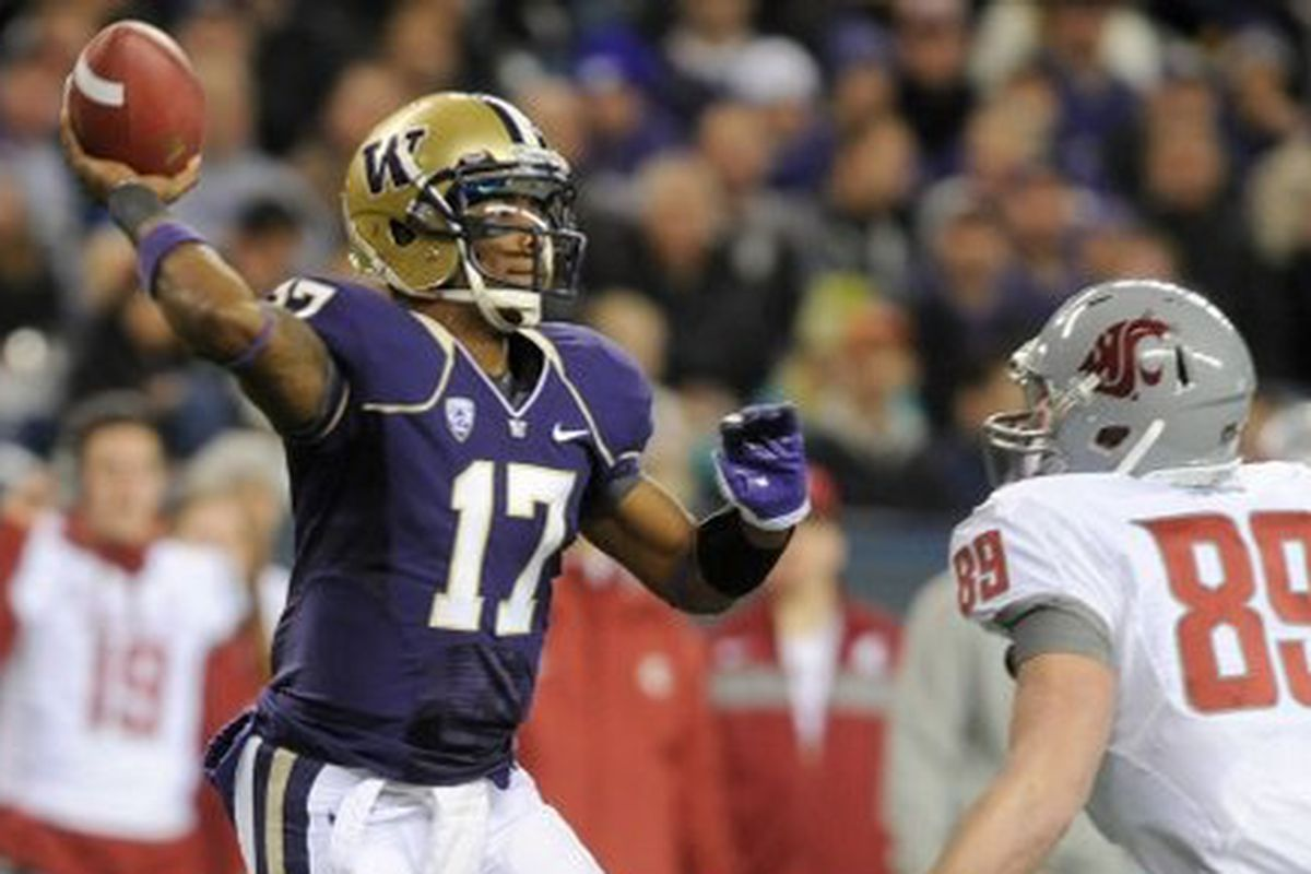 Will he or won't he?  Keith Price's status for Friday's Apple Cup is uncertain.