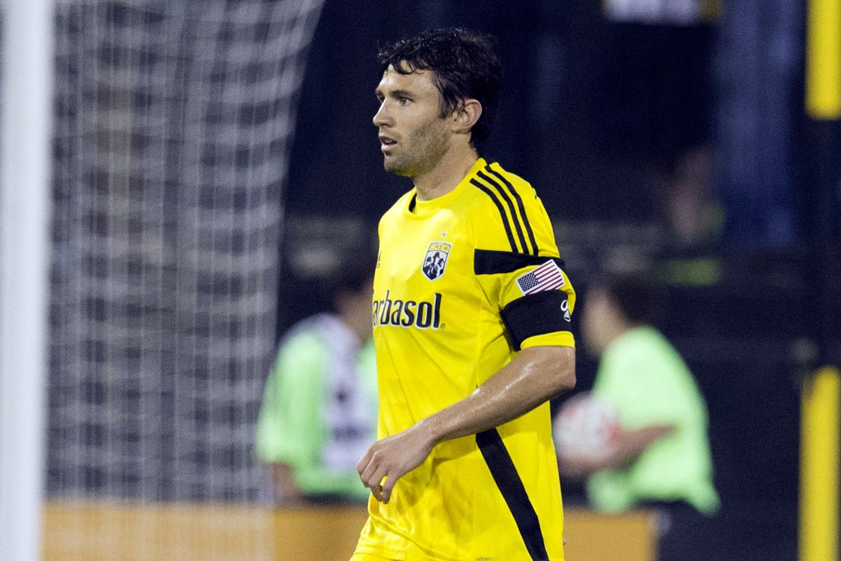We won't have to face Michael Parkhurst on the Columbus backline this Saturday