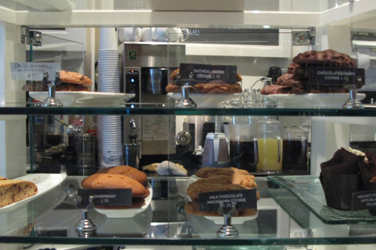 The pastry case at Arlequin.