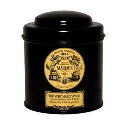 """<strong>Mariage Frères</strong> Marco Polo green tea, <a href=""""https://secure.dandelionsf.com/items/?sku=D1860"""">$24.50</a> at Dandelion, is a luxe addition to anyone's tea time or tea party."""