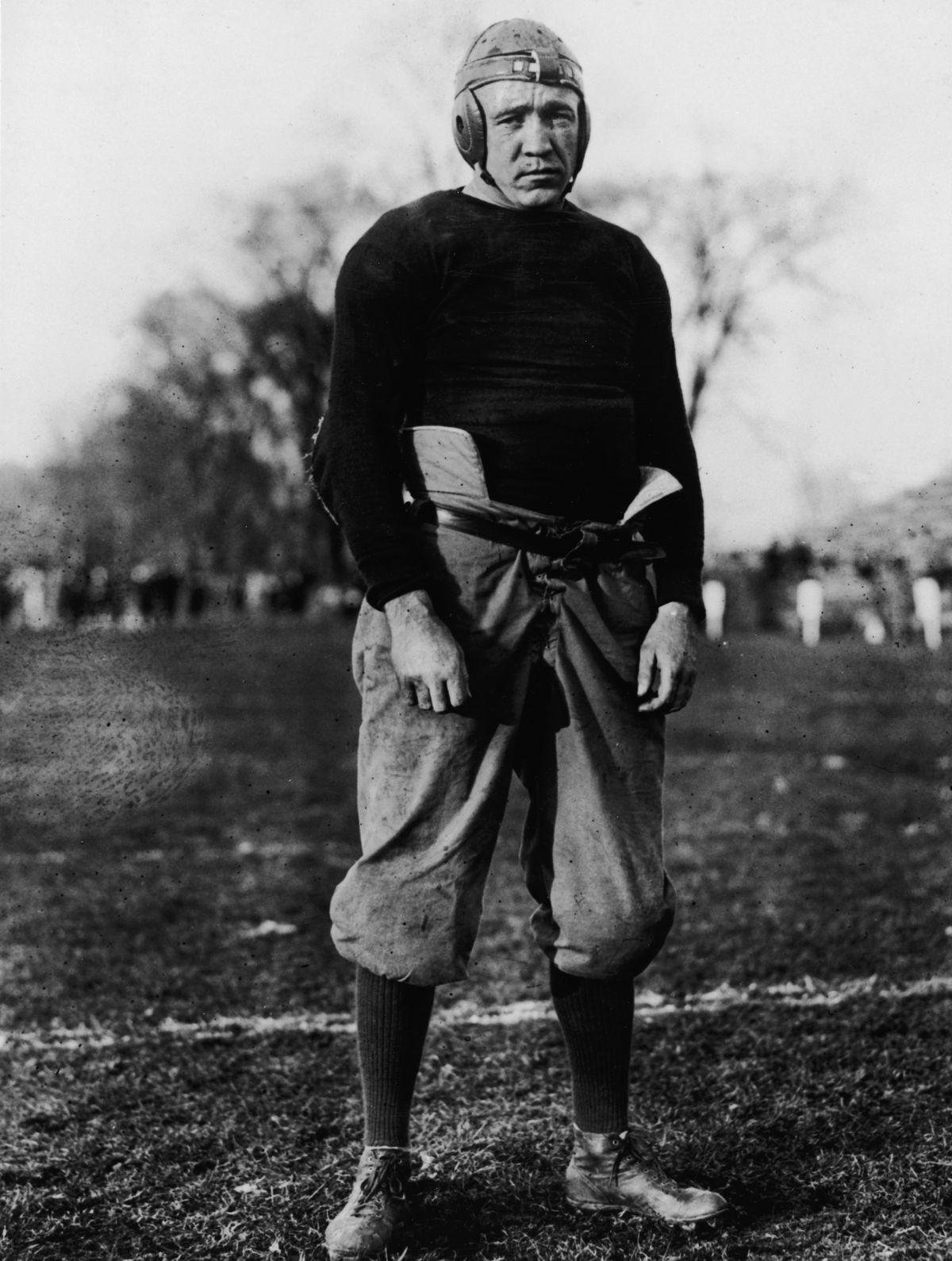 Knute Rockne In Football Uniform