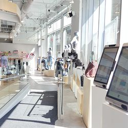 Save for denim, shoppers will only find one size of each item displayed to streamline the shopping process.