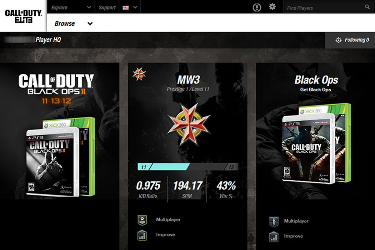 Call of Duty Elite redesign