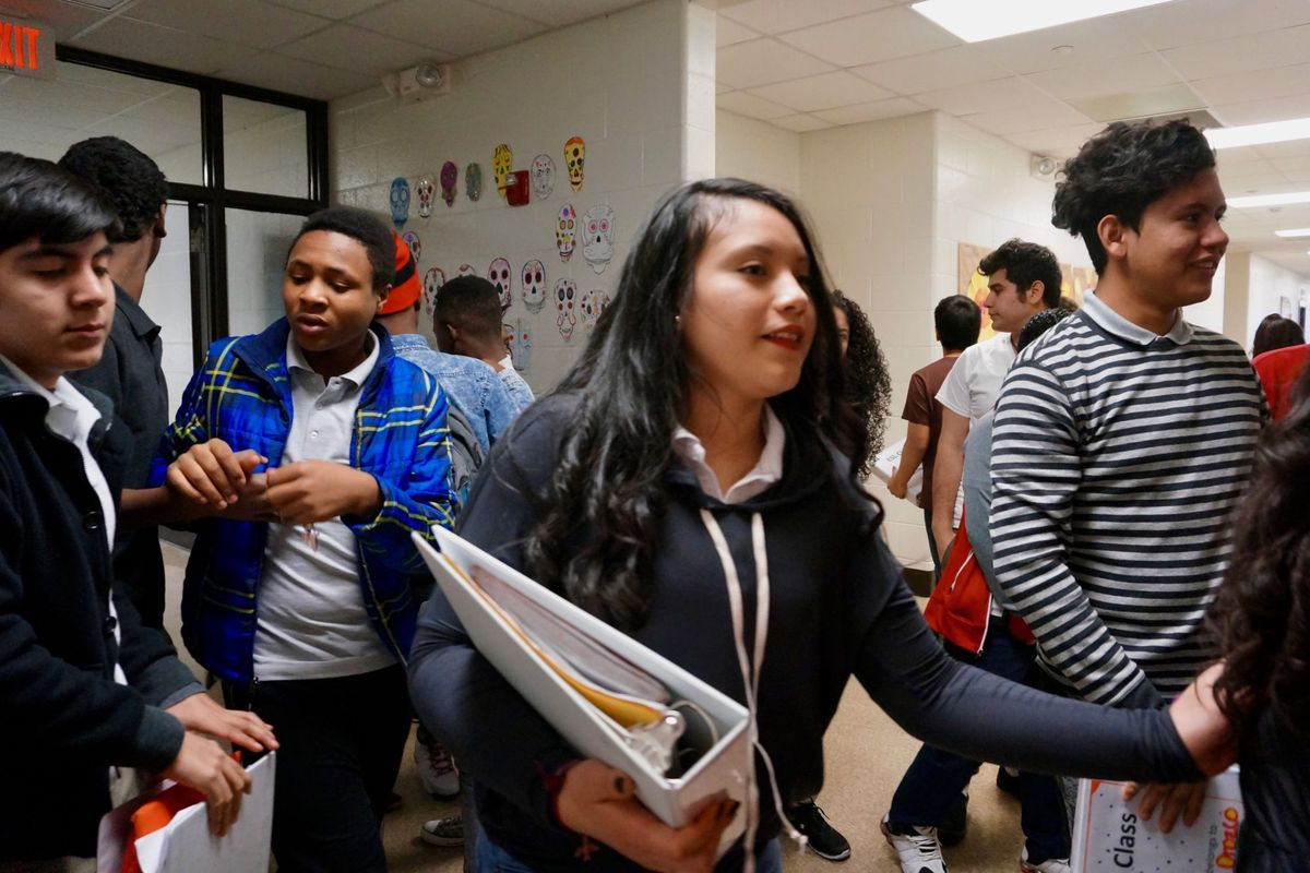 The Newcomer school serves students in their first year in the U.S. who are learning English.