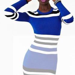 """<a href=""""http://www.nastygal.com/whats%2Dnew/cecilia%2Dstripe%2Ddress""""><strong>Cecilia</strong> Stripe Dress</a>, $235 at NastyGal"""