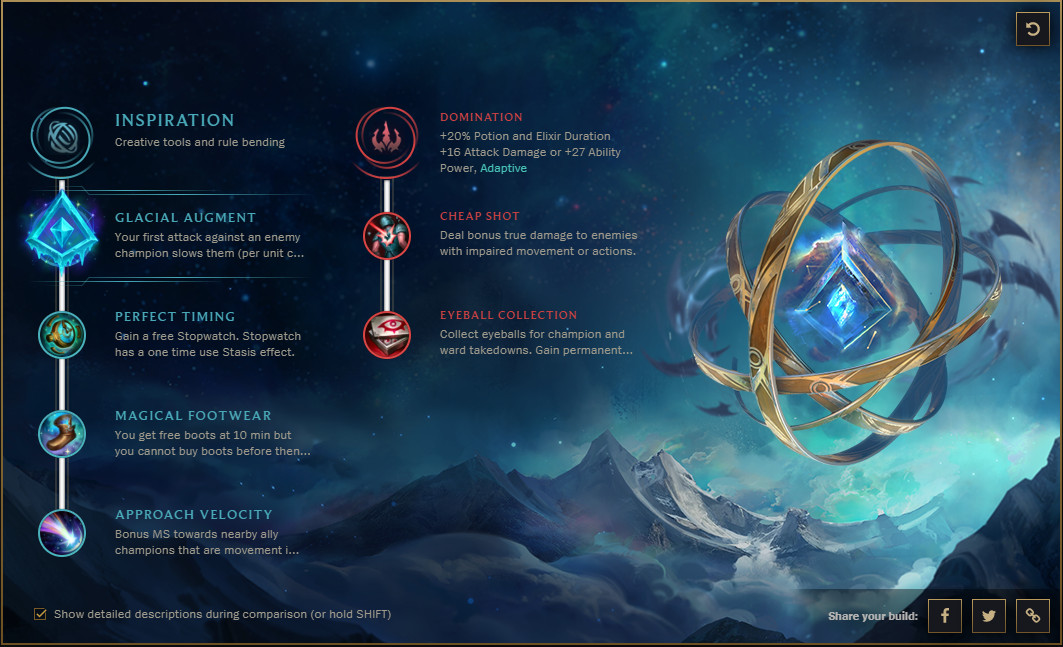 Keystone Rune Guide How To Use Glacial Augment The Rift Herald