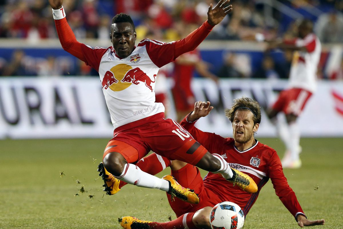 Lloyd Sam and the Red Bulls did enough to down the Fire despite only one shot on goal.