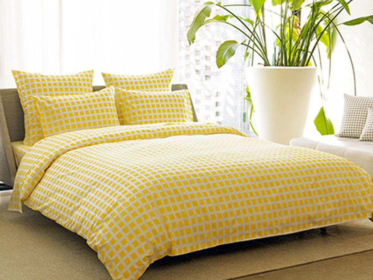 Tiles lemon yellow duvet covers, $120-$160 at Union Home