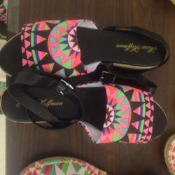 Platform sandals, $150