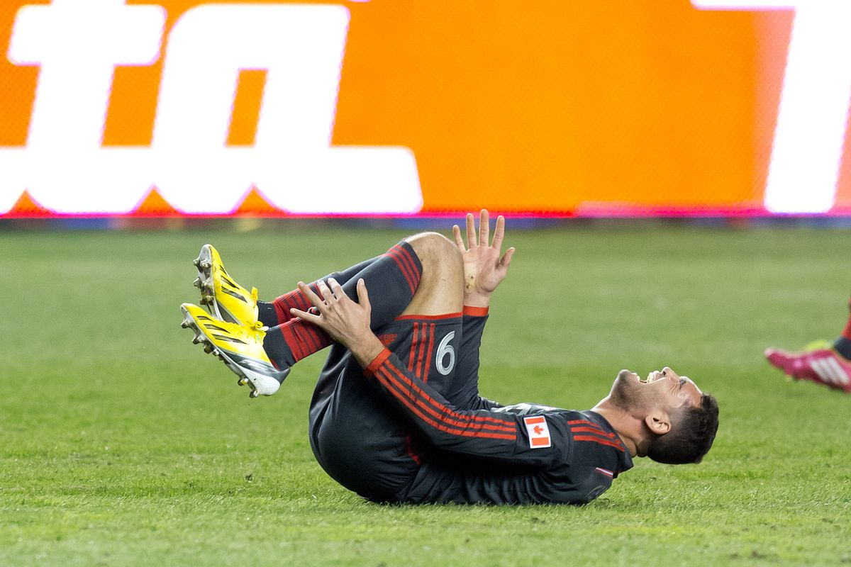 Gilberto. One of the few TFC players not actually injured today.