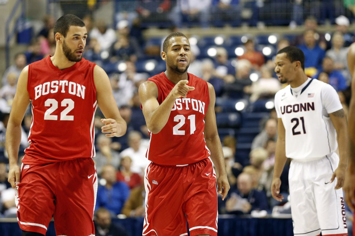Nathan Dieudonne (left) and Cedric Hankerson contributed, per usual, to BU's win.