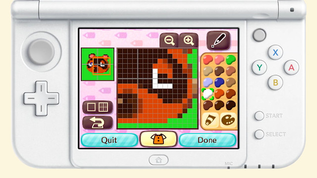 Players draw a Tom Nook print on the 3DS to scan to Animal Crossing: New Horizons