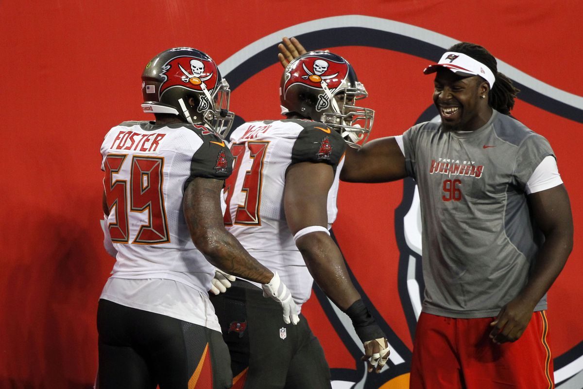 new product e3461 83023 Kadeem Edwards and Kevin Pamphile dominate Buccaneers snap ...