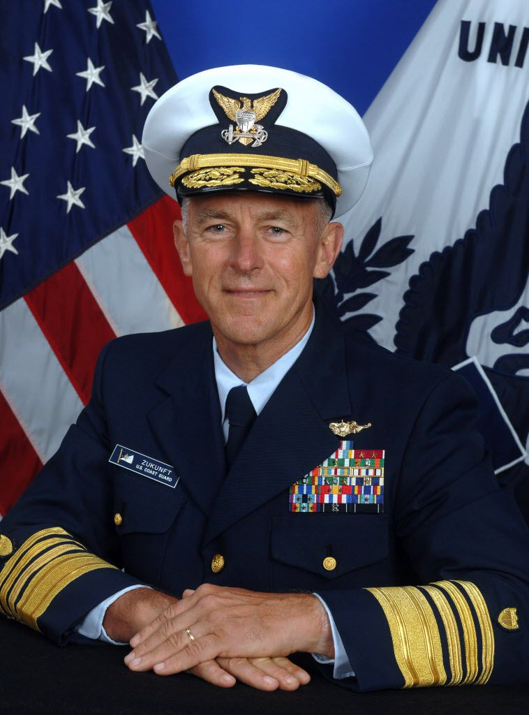 This undated US Department of Defense handout photo obtained August 1, 2017 shows Adm. Paul F. Zukunft, the 25th Commandant of the United States Coast Guard.<br>/ AFP PHOTO / DoD / Telfair H. BROWN Sr. /