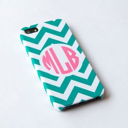 """<b>IsolateCase</b> personalized teal chevron iPhone 4S case, $24.50 at <a href=""""http://www.etsy.com/listing/124541325/personalized-teal-chevron-iphone-4s-case"""">Etsy</a>"""
