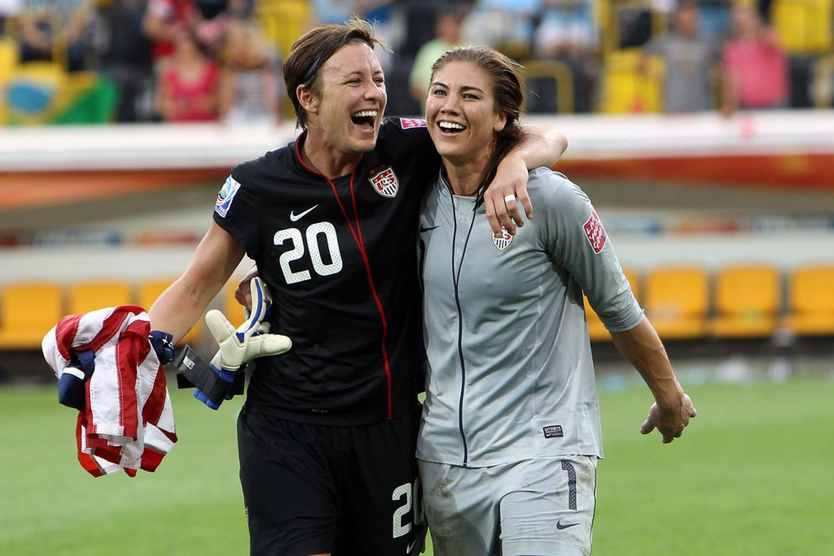 Yep, all just an excuse to get a picture of Hope Solo on here. Sue me.